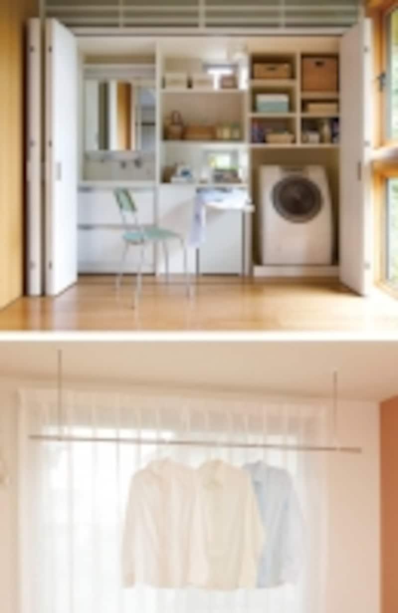 洗濯機周辺の空間活用