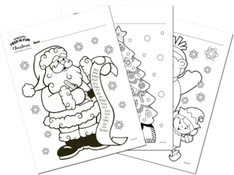 クリスマス塗り絵 FREE-N-FUN「Coloring Pages」