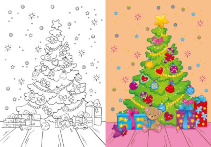 クリスマス塗り絵無料