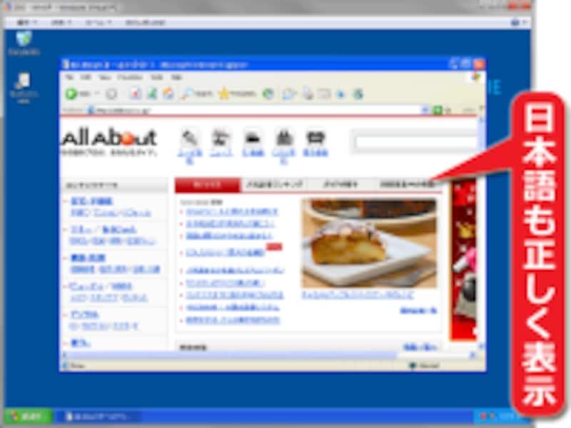 日本語サイトも正しく表示される