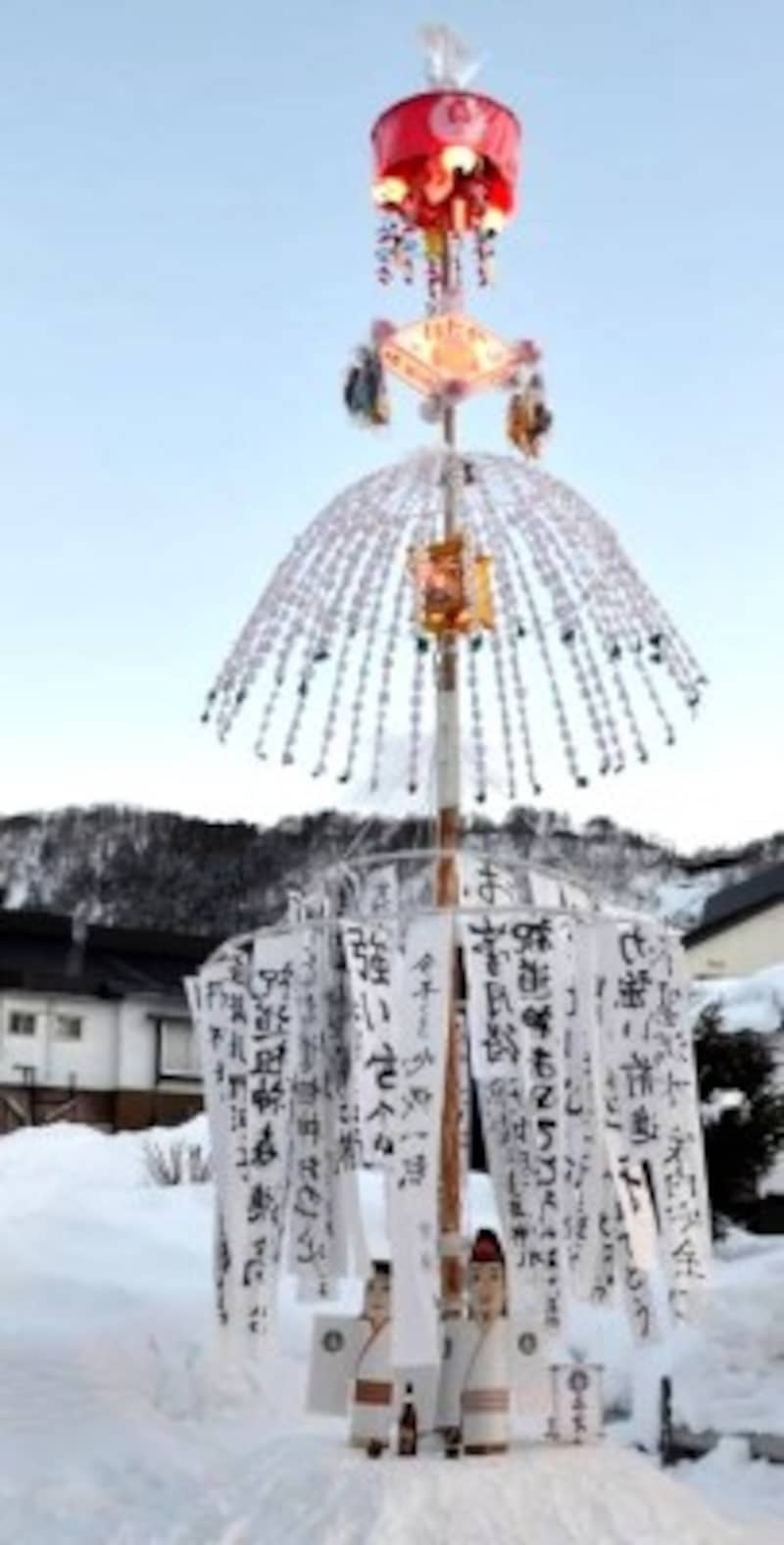 野沢温泉の道祖神祭り初灯籠