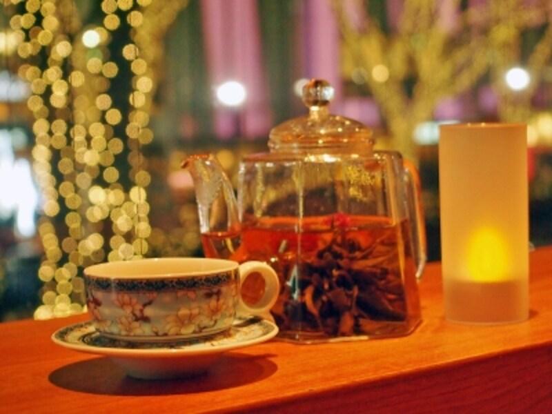 イルミネーションと中国茶