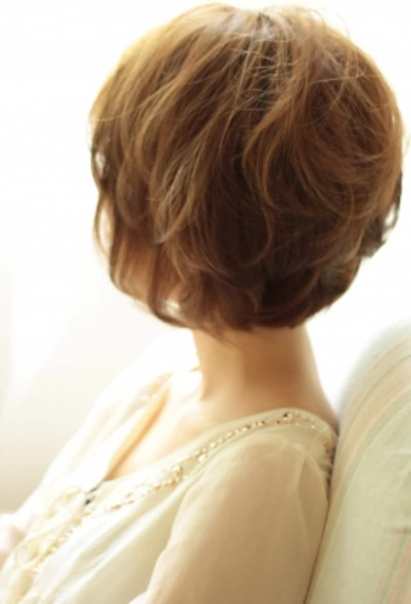 低温デジタルパーマのショートヘア