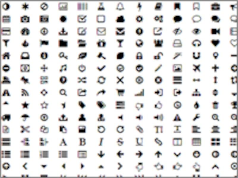 アイコン用フォントの中には、使わないアイコンも多数ある