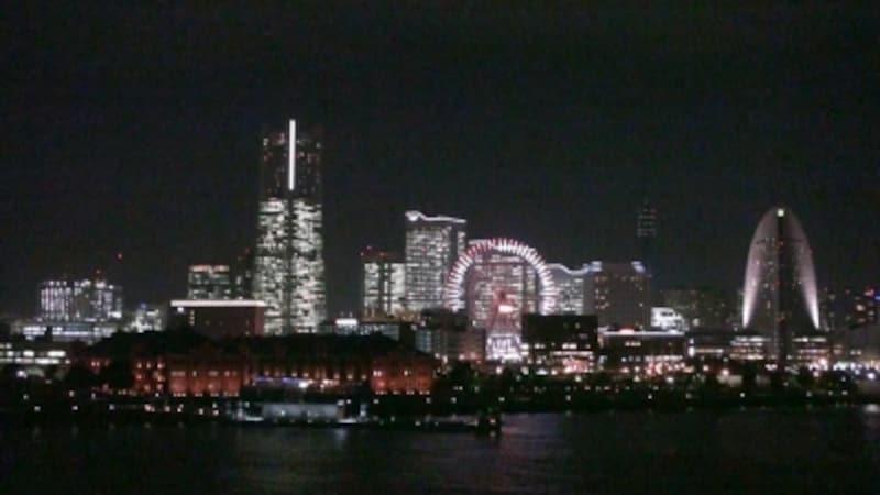 ▲夜の帳が降りた横浜の夜景