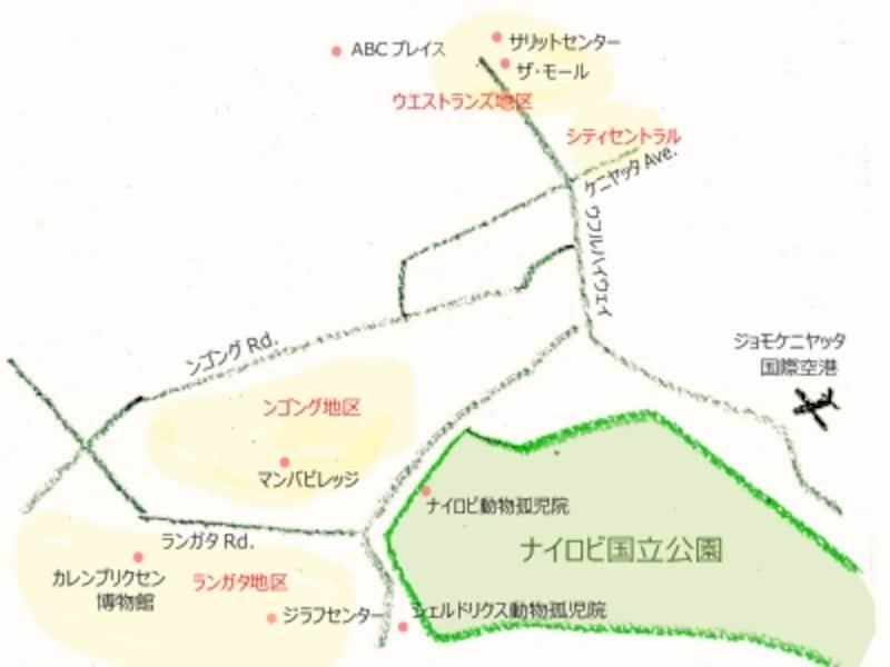 ナイロビの地図