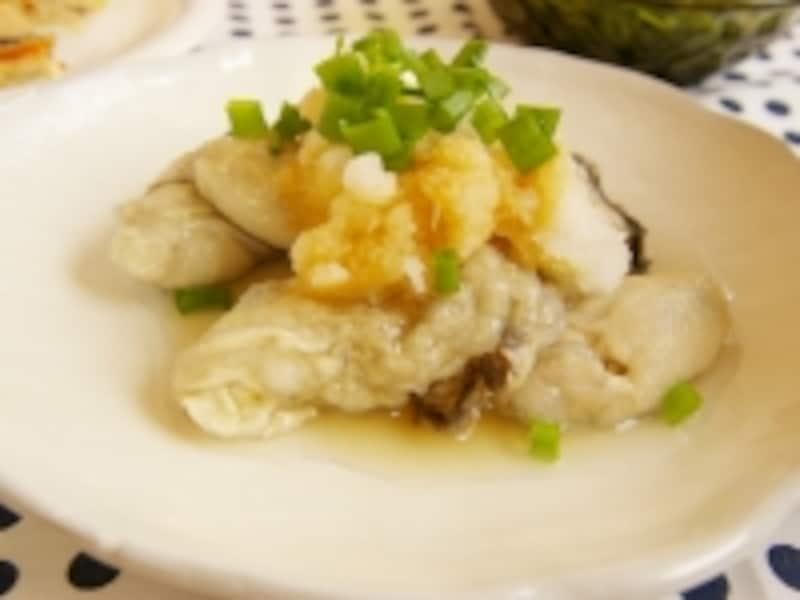 茹で牡蠣のおろしポン酢