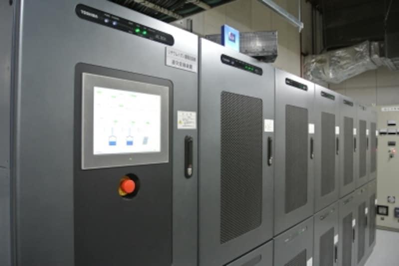 地下にある蓄電池のシステム