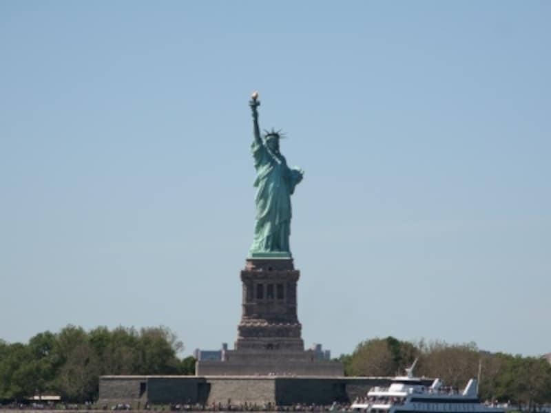 ニューヨークと言えば自由の女神ははずせない!