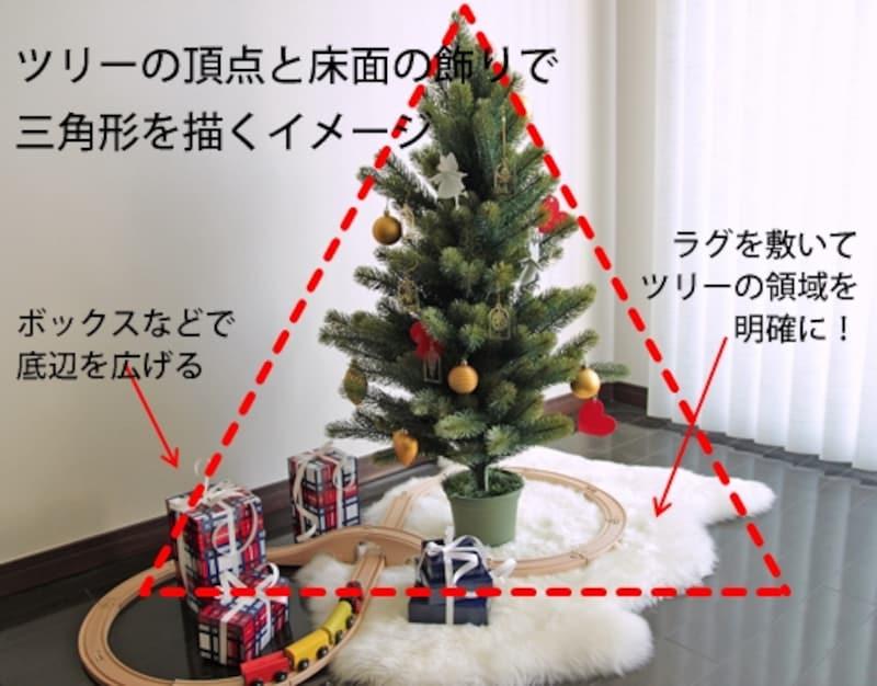 リビングに馴染むクリスマスツリーの飾り方