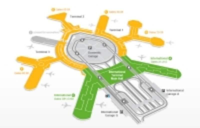 AIRTRAINと呼ばれる空港内循環電車でGarageGまで向かいます