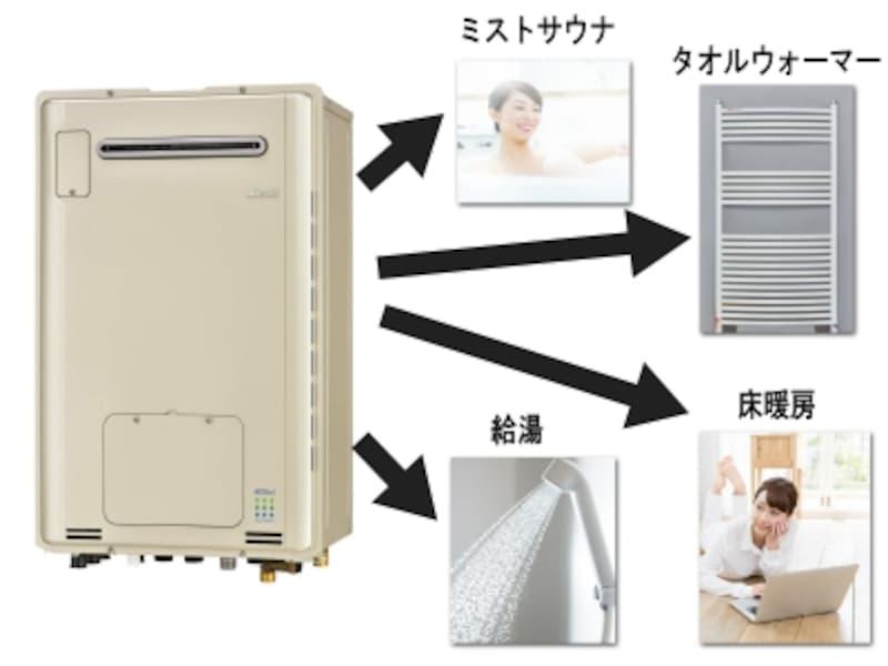給湯器一台でタオルウォーマーも使える