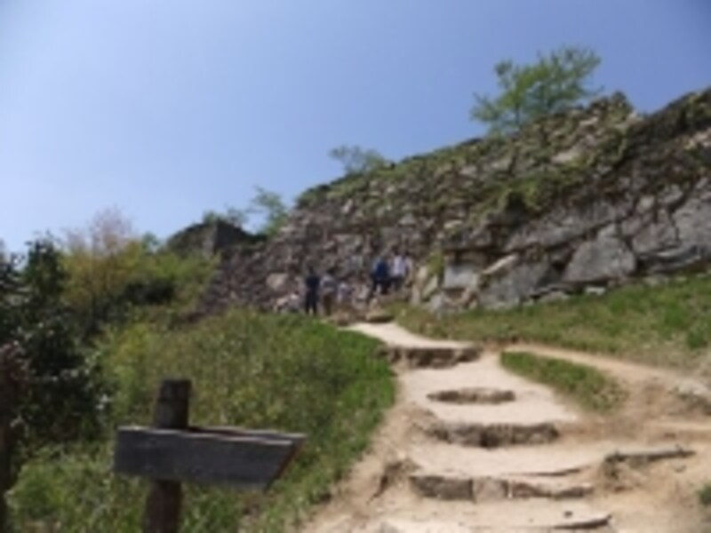 竹田城址(5)/大手門入口から北千畳への登山道