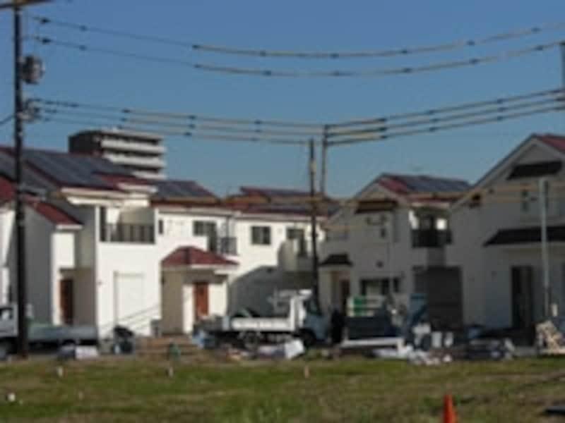 開発中の分譲住宅地