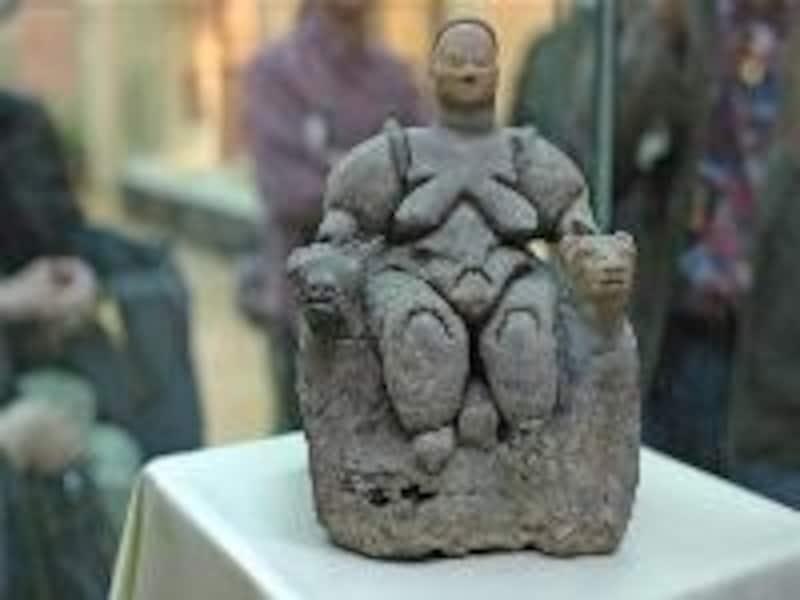アナトリア文明博物館の地母神坐像(アンカラ)