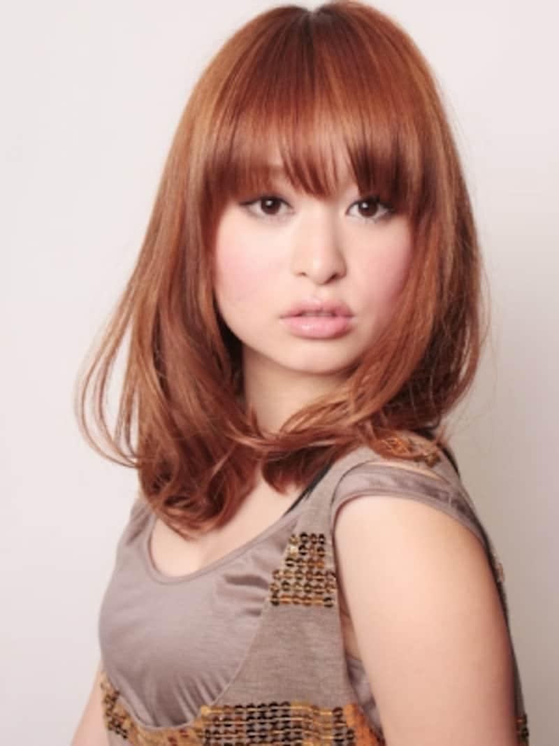 媚びない女のグラマラス・ミディアムヘア [ヘアスタイル・髪型