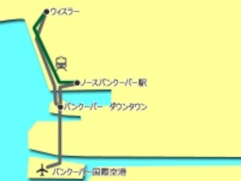この行程のルートマップ