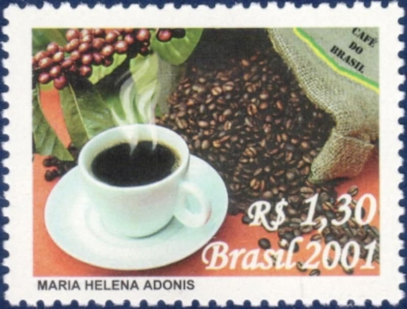ブラジルのコーヒー切手