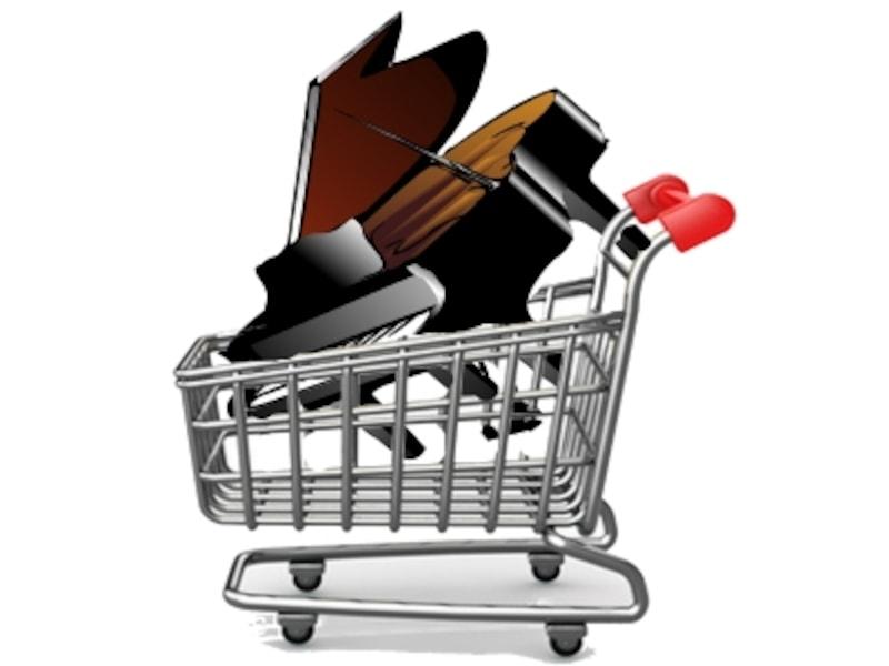 ショッピングカートの中のピアノ