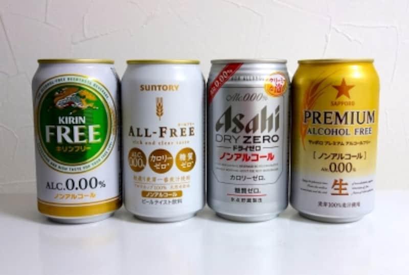 各メーカーのビールテイスト飲料