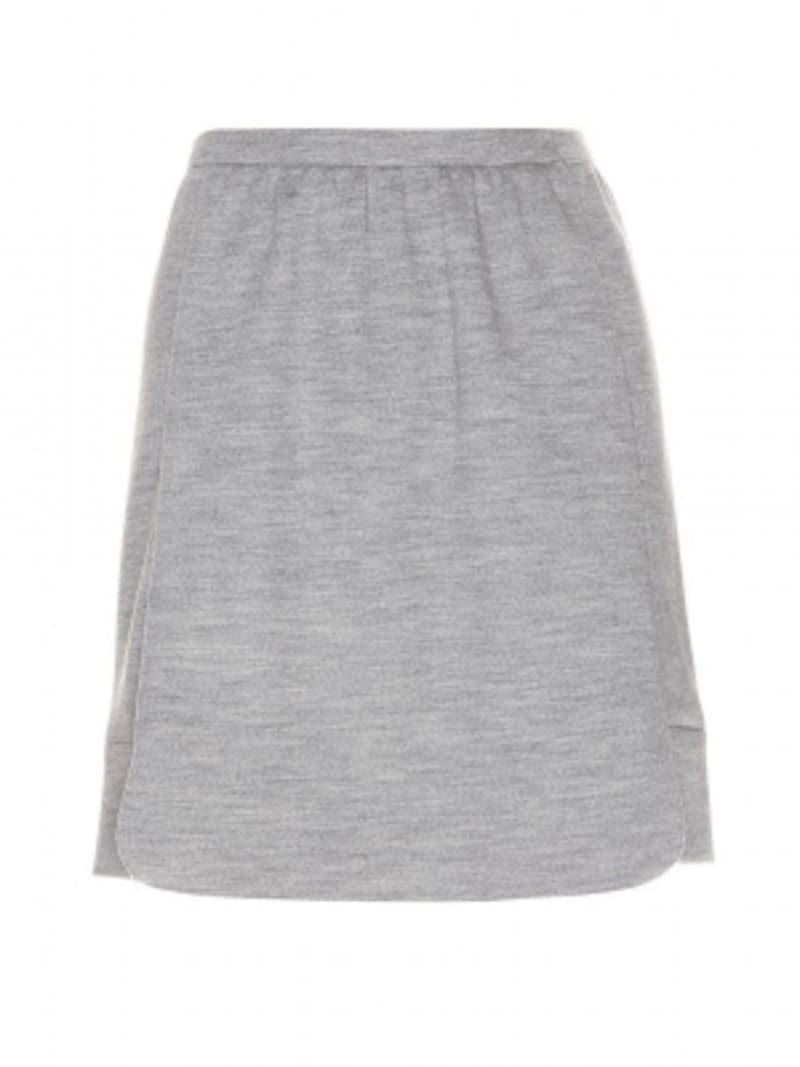 Balenciaga/Wool-jerseyminiskirtGrisChine
