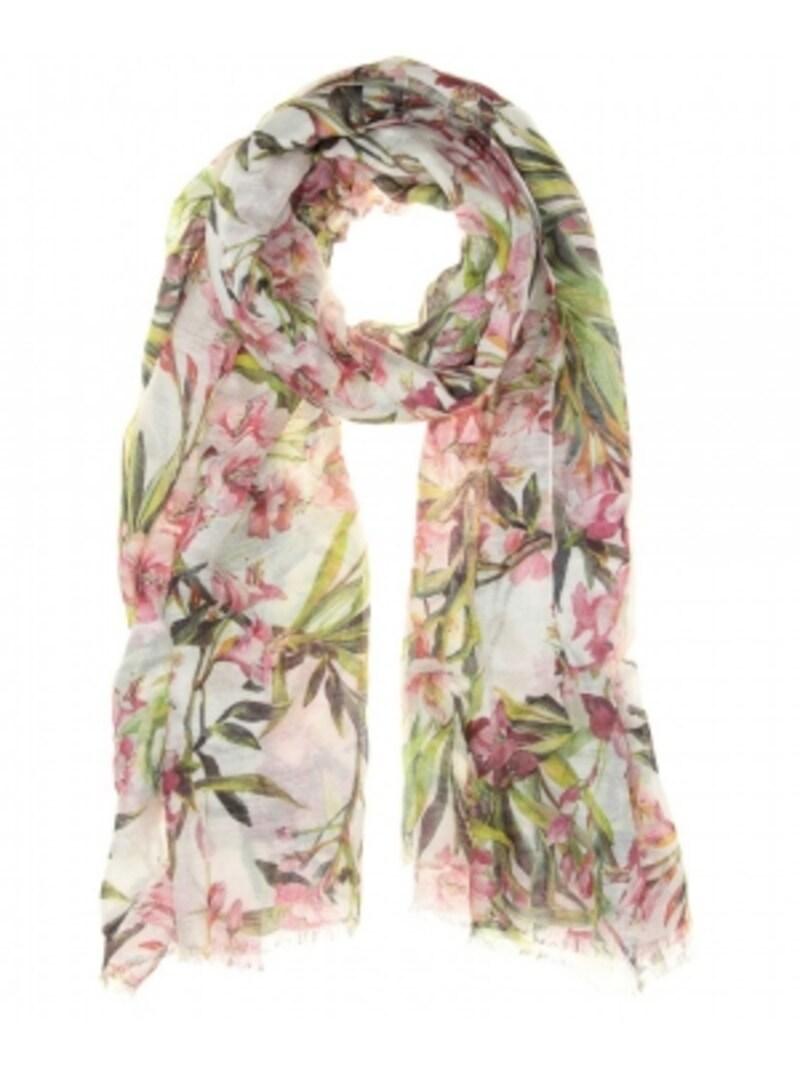 DOLCE&GABBANA/Linen-blendfloral-printscarf