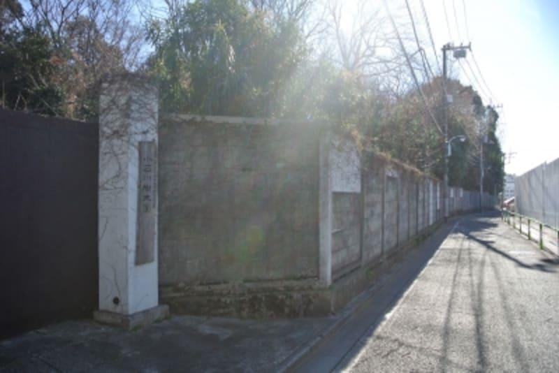 小石川植物園側から見た現地