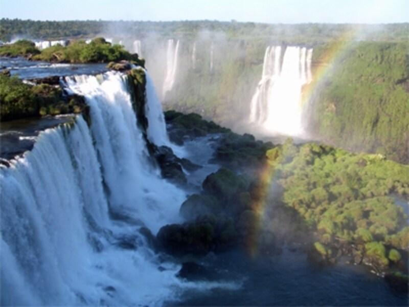 ブラジルから見るイグアスの滝も、アルゼンチン側とは違った趣