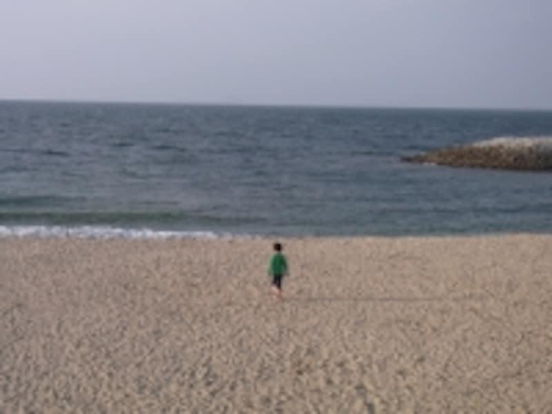 砂浜で遊んでケガしても大丈夫かな!?