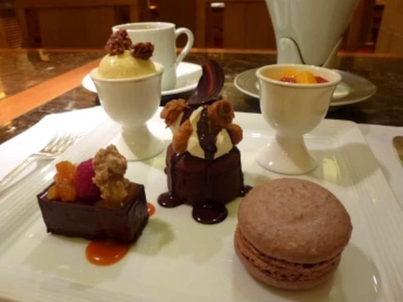 チョコレートのデザートが色々とたくさん!