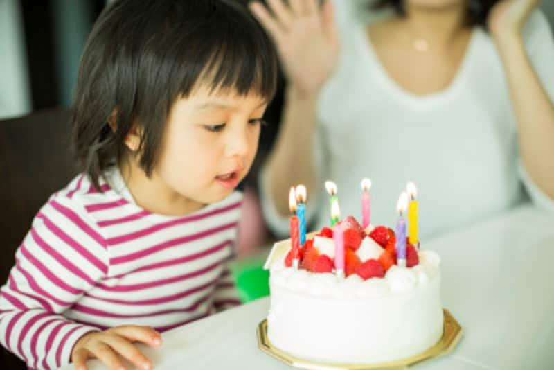 家族で祝う誕生会