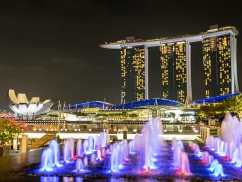 毎晩行われる水と光のファンタジー「WonderFull」をホテルの向かい側から鑑賞するとさらに迫力が!