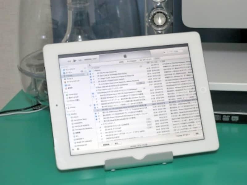iPad側にiTunesを全画面表示して使っている