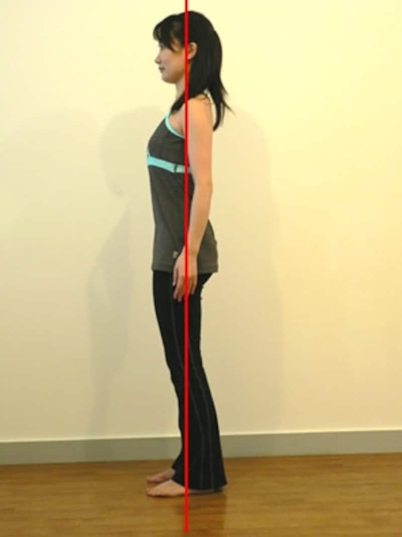 背骨と骨盤のバランスが整っている美しい姿勢