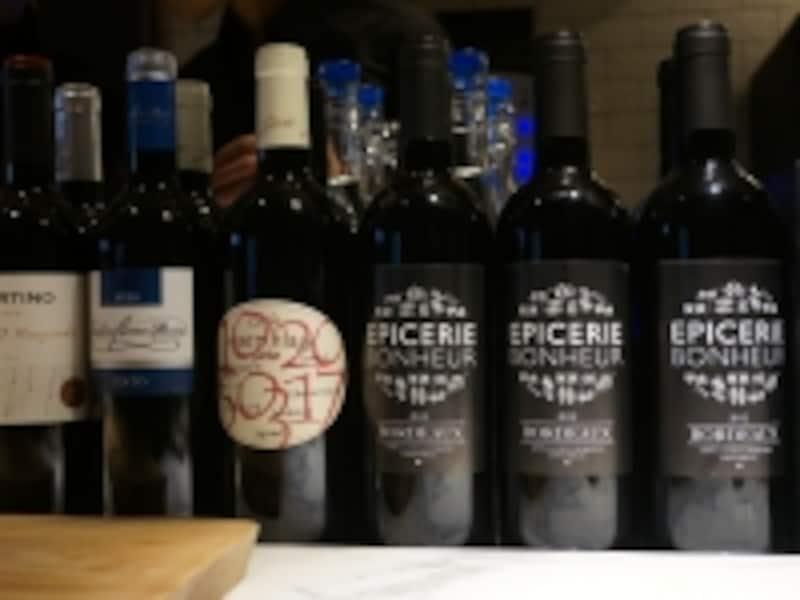 赤ワイン煮込みは、この右の赤を使って