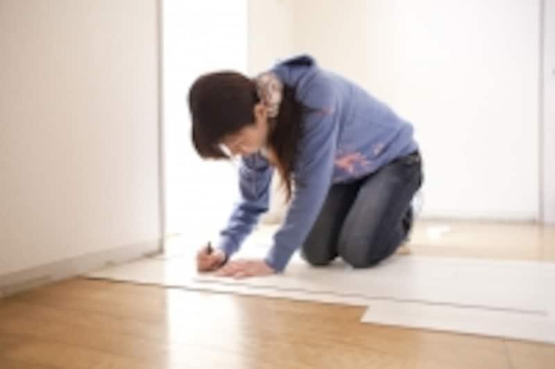 マンションの床