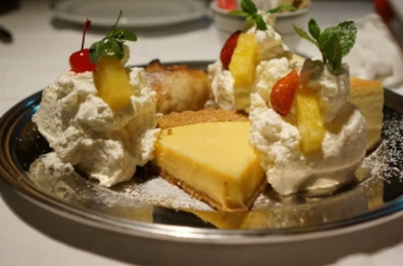 キーライムパイ、アップルストゥルーデル、NYチーズケーキ