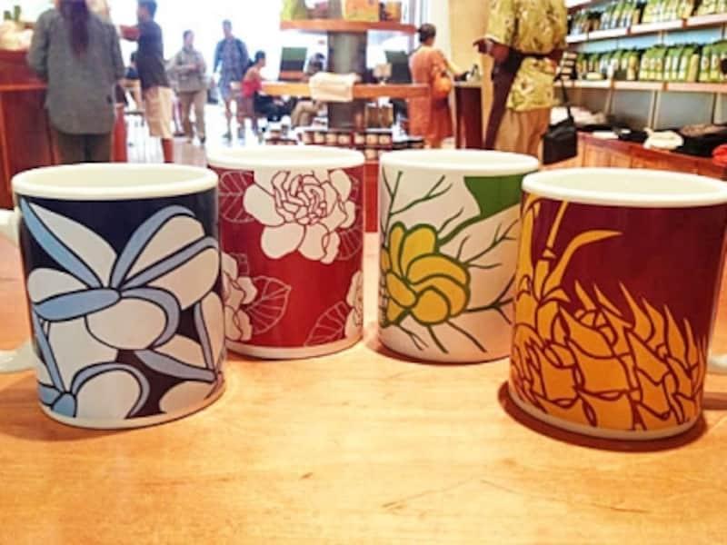 ハワイの花々が描かれたシグ・ゼーンとのコラボマグカップ