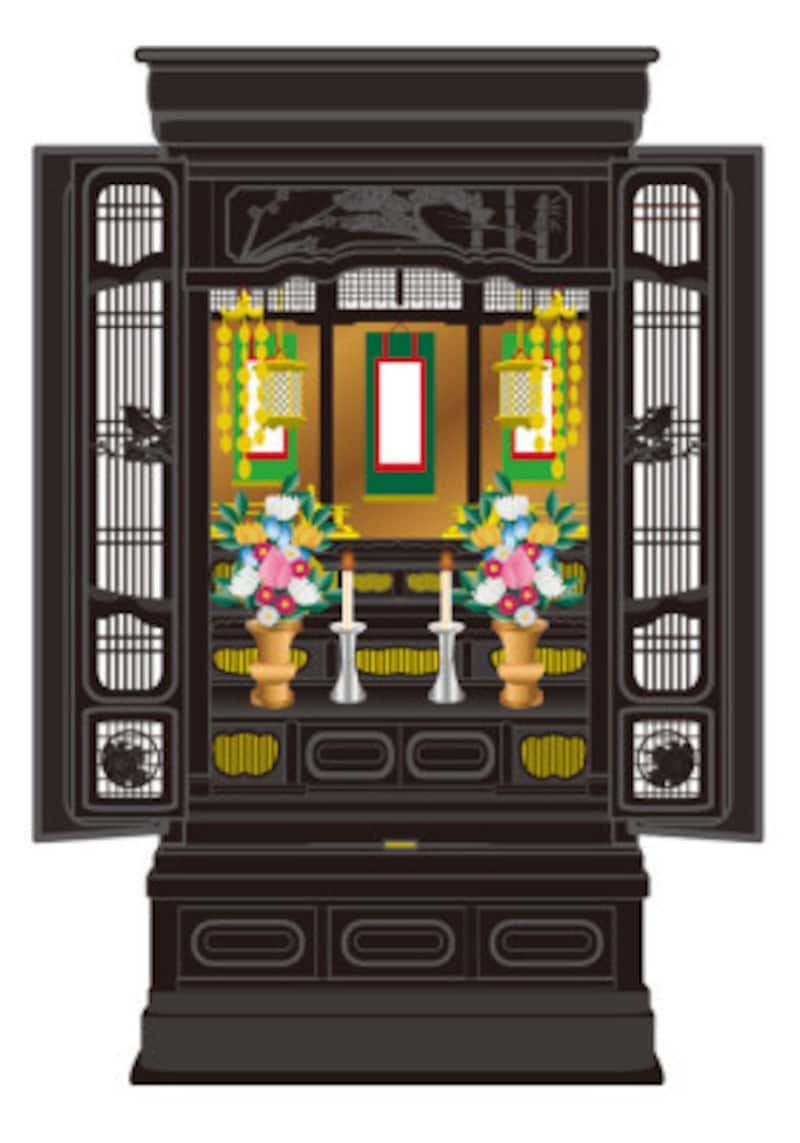 仏壇は法要をしてから処分します。
