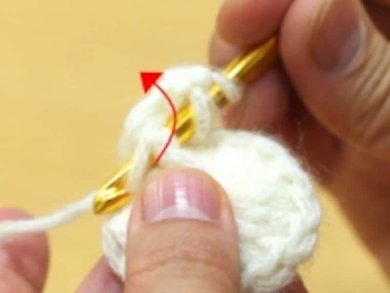 同じ長編みを拾う