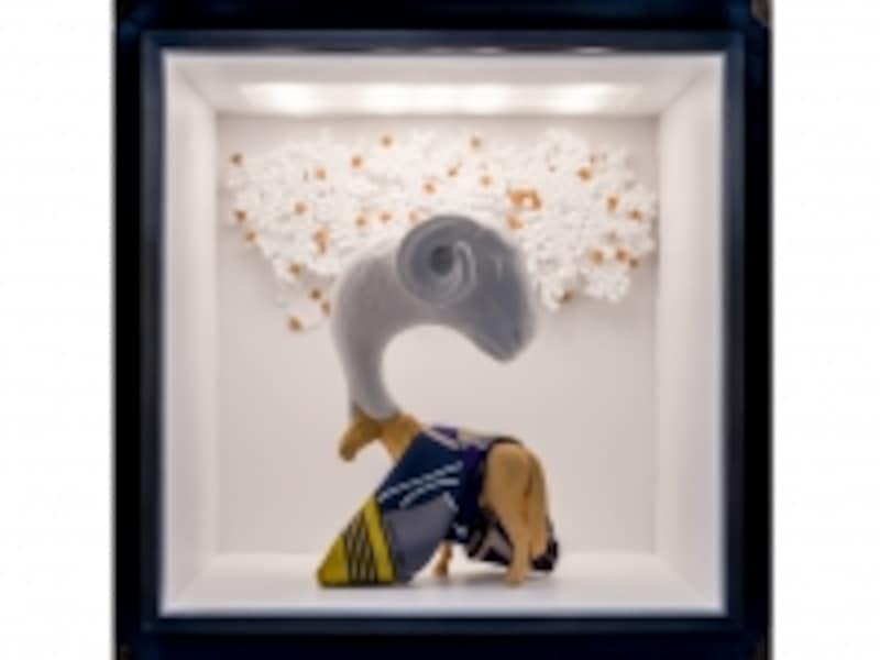 植松琢麿作品ビル壁面にあるキューブ状の16のウィンドウのひとつ(C)SatoshiAsakawa/CourtesyofHermesJapon