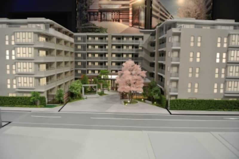 ライオンズ上大岡ガーデンシティの建物完成模型