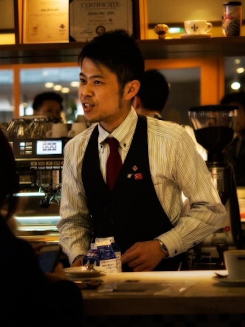 バリスタ阿部圭介さん。