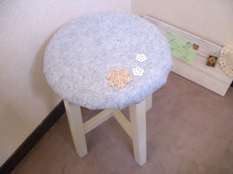 丸椅子カバーの作り方!フェルトで簡単ハンドメイド