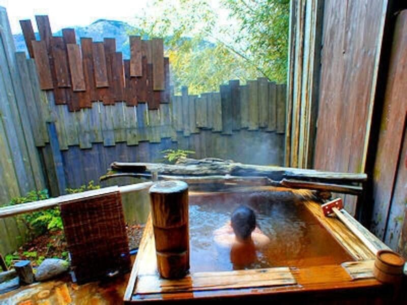 箱根強羅温泉季の湯雪月花の露天風呂