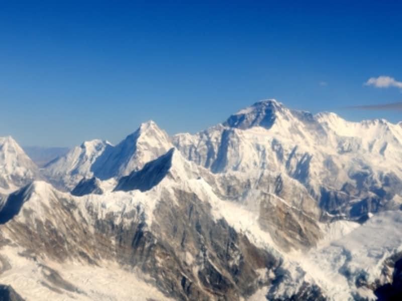 快晴のヒマラヤ山脈。一生の思い出となる記念写真が撮れるはず