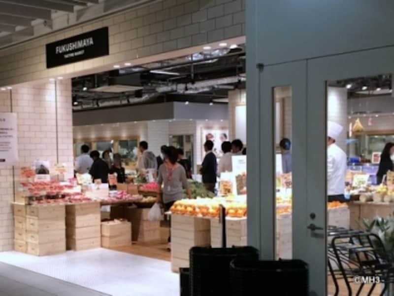 生鮮食料品売り場「福島屋」
