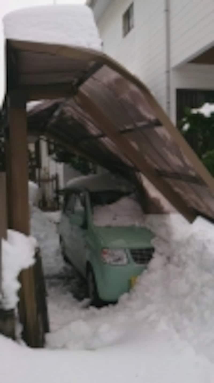 今回はカーポートの被害が多数発生した