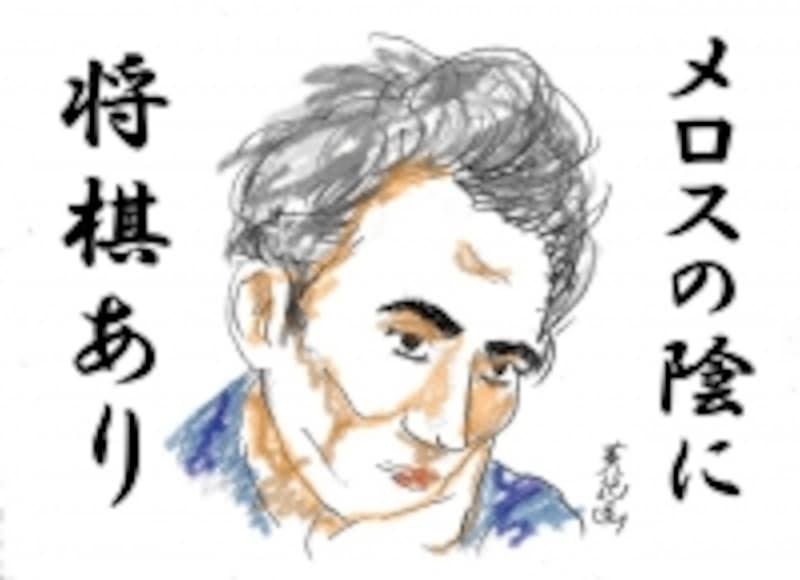 物憂げな太宰治(ガイド画)
