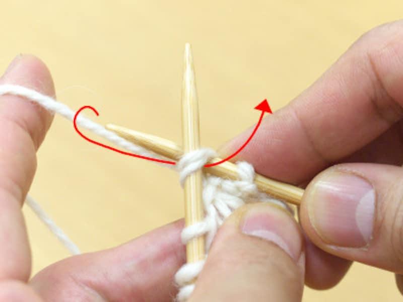 糸を引き抜く